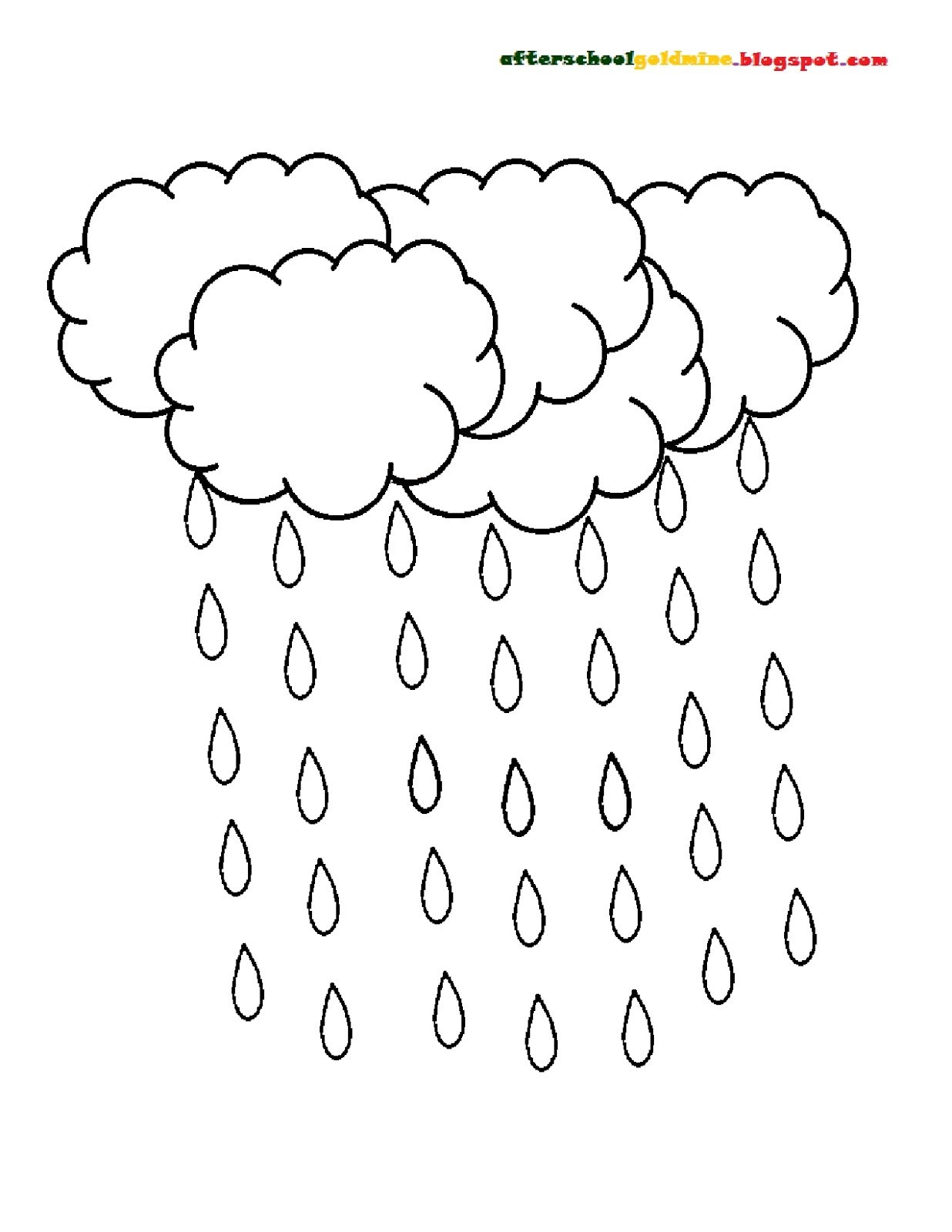 1236x1600 Better Raindrops Coloring Pages Raindrop Page Freecolorngpages Co