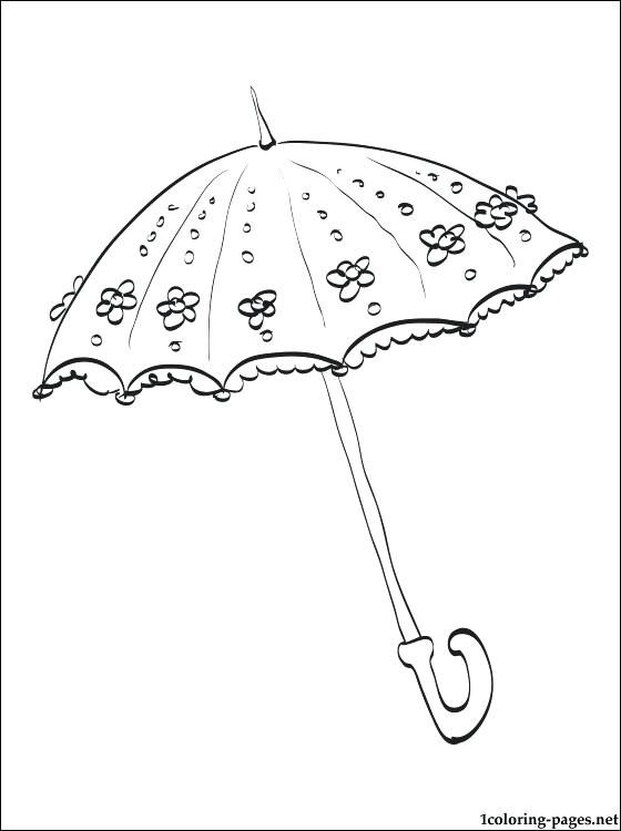 560x750 Raindrop Coloring Page Printable Umbrella Images Printable