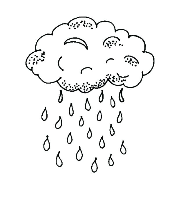 600x688 Raindrop Coloring Page Rain Drop Coloring Page Drawing Cloud
