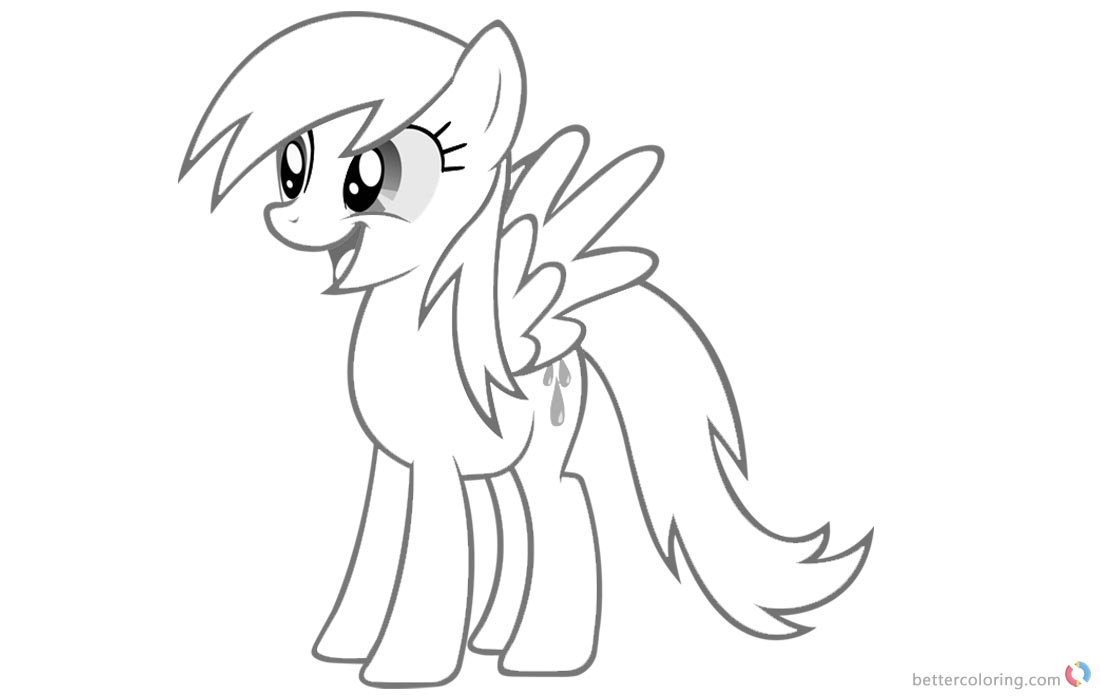 1100x700 Raindrop Coloring Pages My Little Pony
