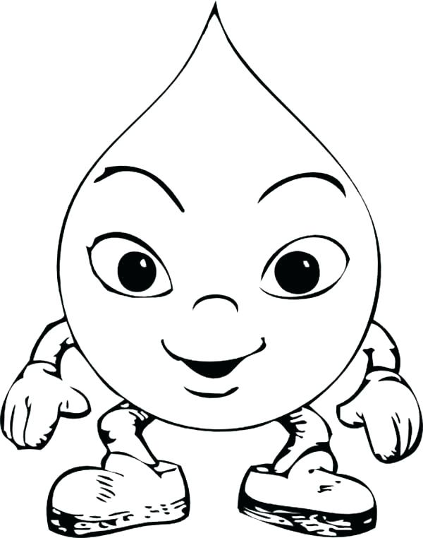 rain drop coloring pages - photo#43
