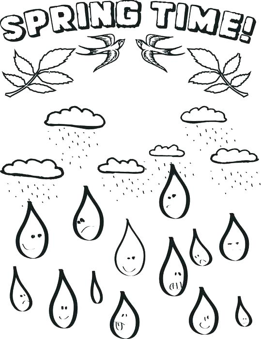 539x700 Raindrops Coloring Pages Raindrop Coloring Pages Raindrop Template