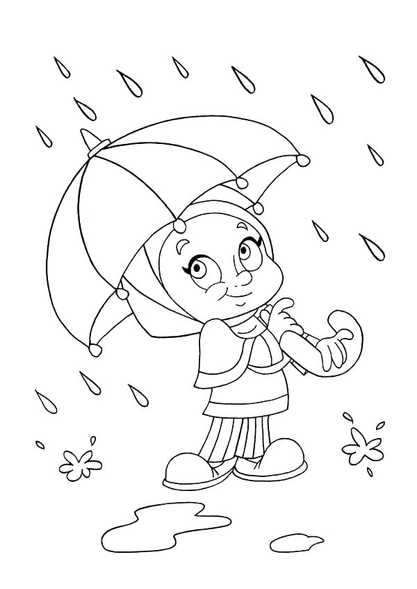 600x847 Raindrops Coloring Pages Umbrella Coloring Page Raindrop Coloring