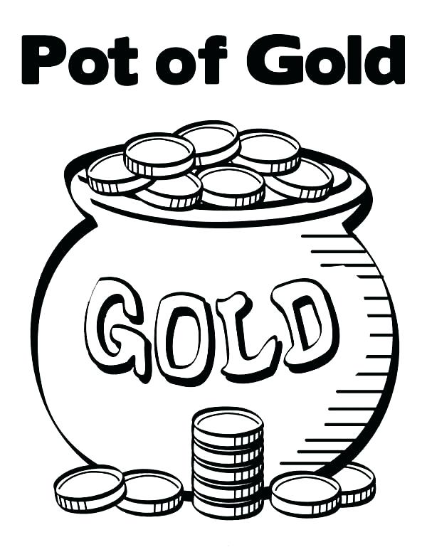 600x776 Pot Of Gold Coloring Pages Pot Of Gold Contain Bunch Of Gold Coins