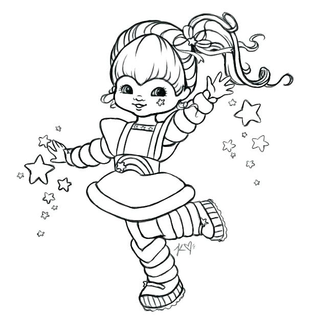 606x643 Rainbow Brite Coloring Pages Rainbow Coloring Pages Rainbow