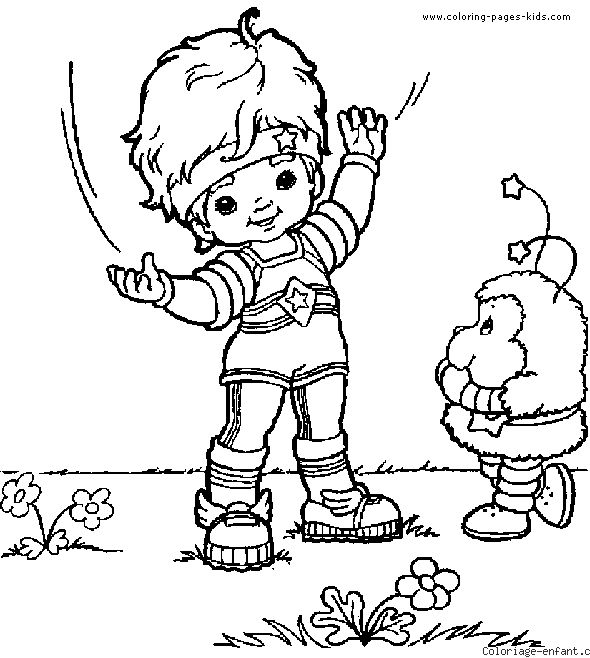Rainbow Brite Coloring Pages Printable At Getdrawings Com Free For