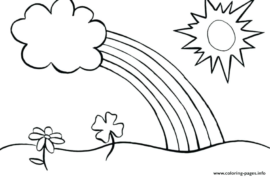 935x615 Rainbow Coloring Page Elegant Rainbow Coloring Page And Rainbow