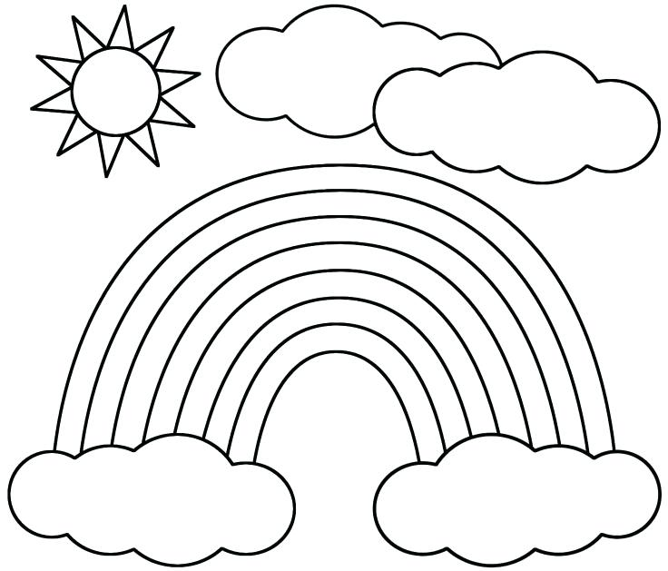 736x629 Rainbow Coloring Pages Rainbow And Sun Coloring Page Rainbow