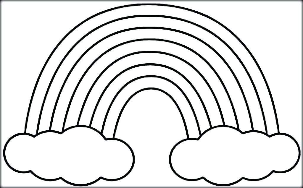 1024x636 Rainbow Coloring Pages Rainbow Coloring Sheets Rainbow Free