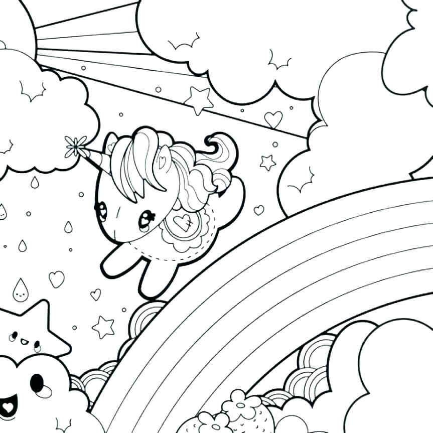 Rainbow Coloring Pages Free Printable at GetDrawings.com ...