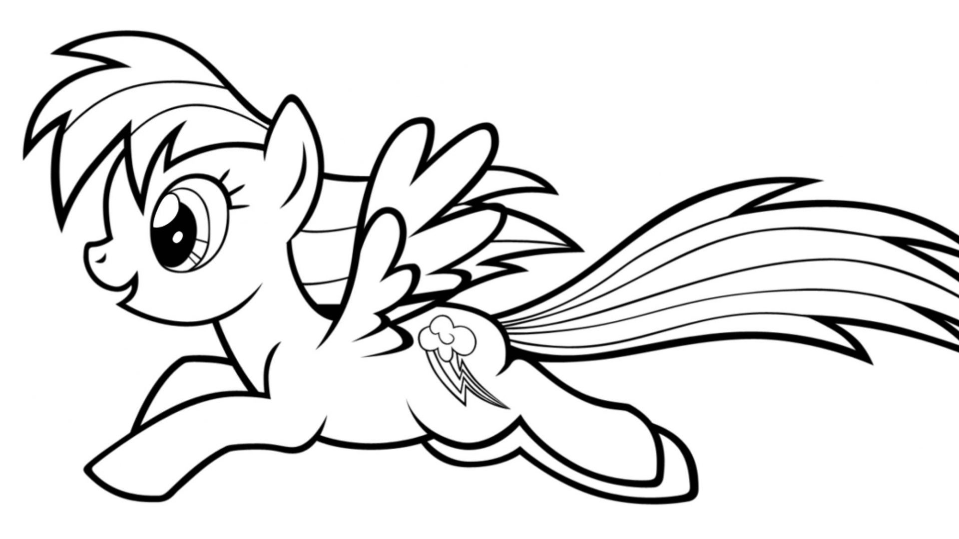 Rainbow Dash Coloring Pages at GetDrawings | Free download