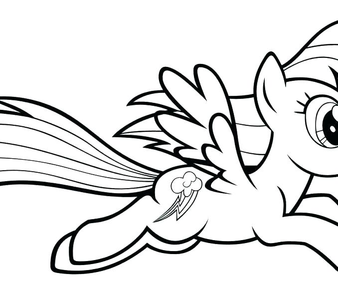 Rainbow Dash Pony Coloring Pages at GetDrawings | Free ...