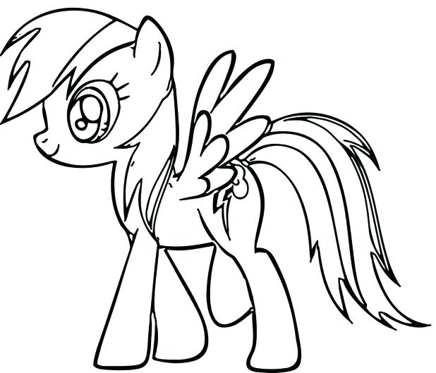 618x529 Rainbow Dash Coloring Pages Rainbow Dash Coloring Page Rainbow