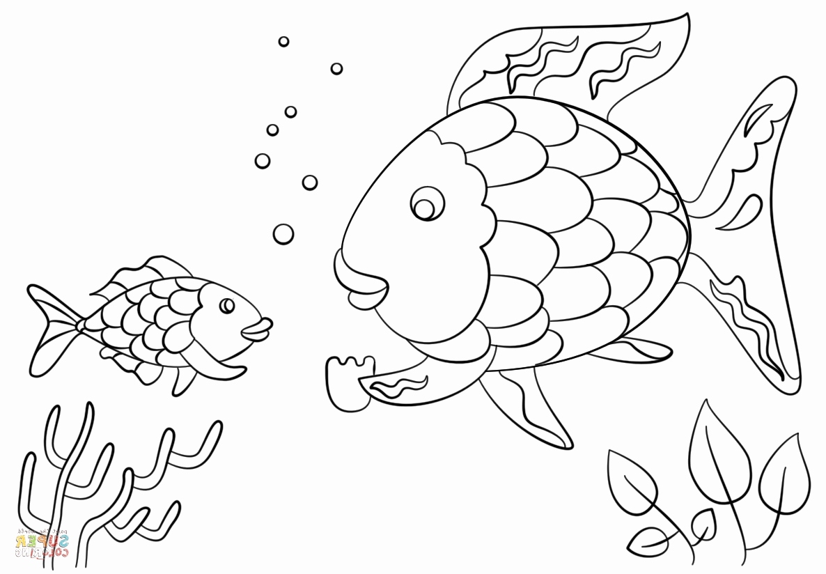 1186x824 Fish With Scales Coloring Page Pics Cool Fish Template