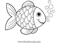 236x176 Printable Rainbow Fish Online Coloring Page For Preschoolers