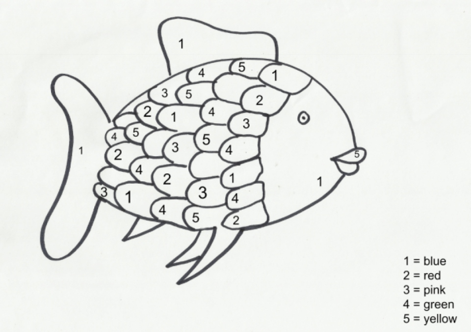 960x676 Rainbow Fish Coloring Page Elegant Get This Rainbow Fish Coloring