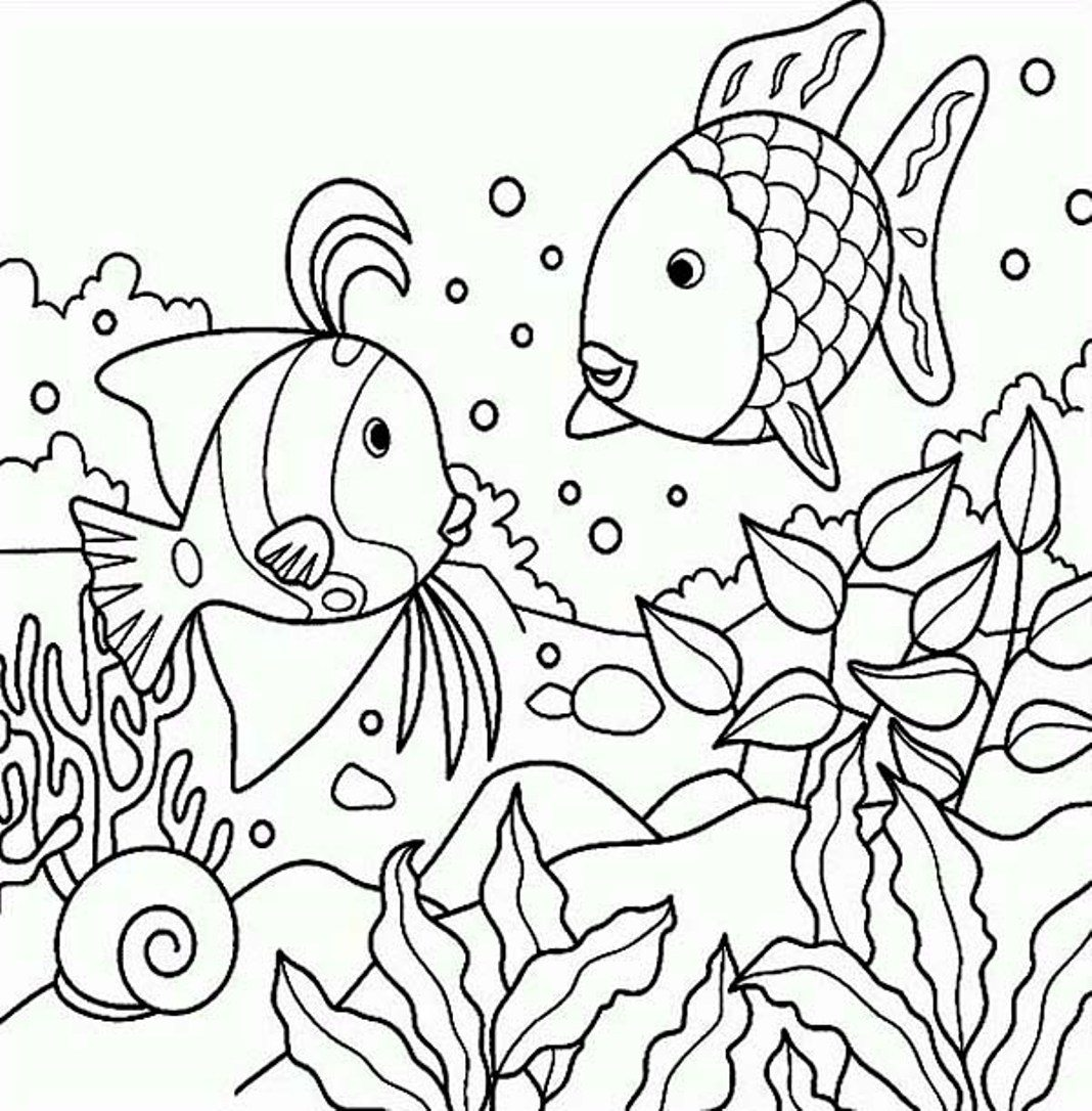 1068x1086 Rainbow Fish Template Magnificent Coloring Page