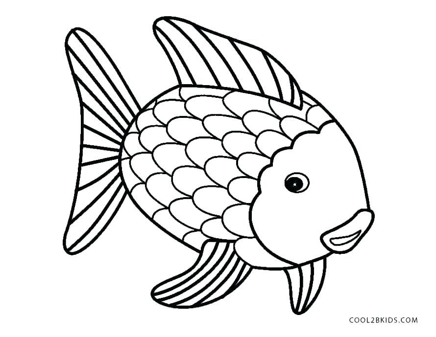 890x689 Color Coloring Pages Fish Outline Coloring Page X Ray Fish