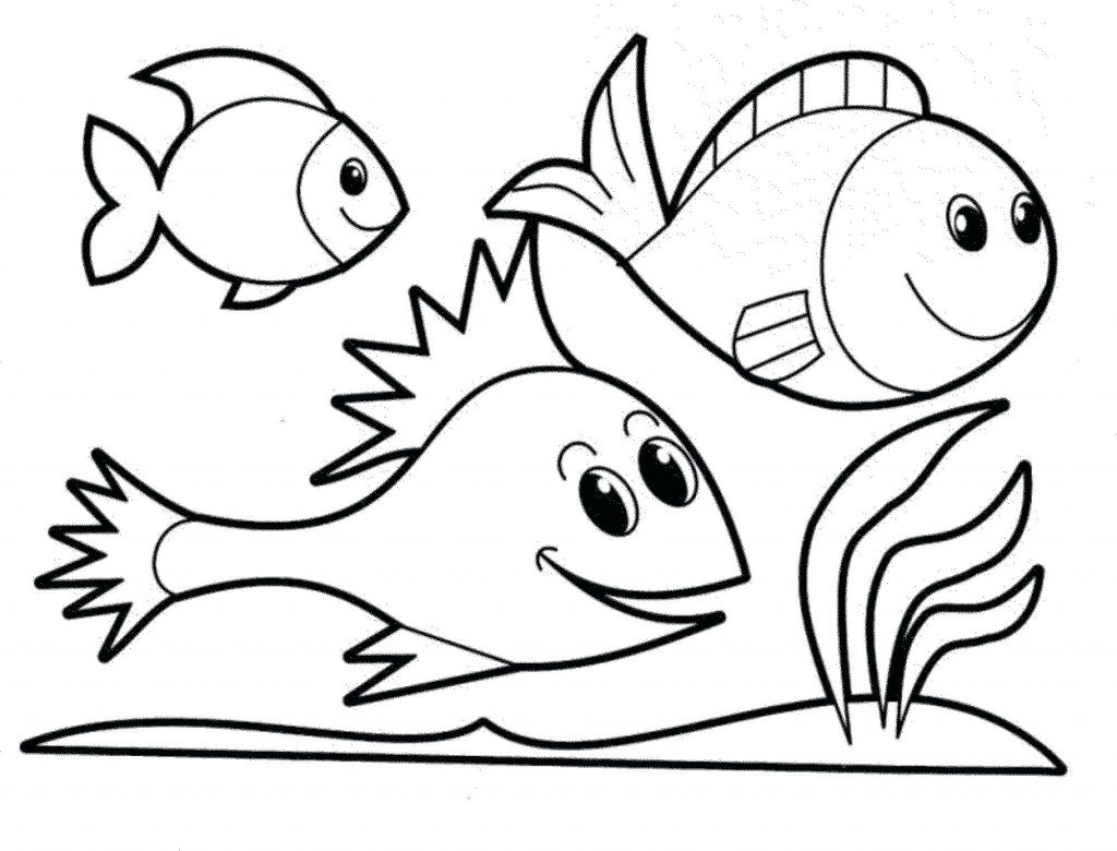 1024x780 Coloring Pages Rainbow Fish Coloring Page Simple Pages Printable