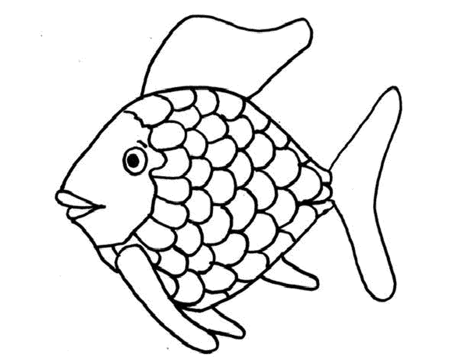 900x702 Fish Coloring Pages Free Printable Rainbow Fish Coloring Page