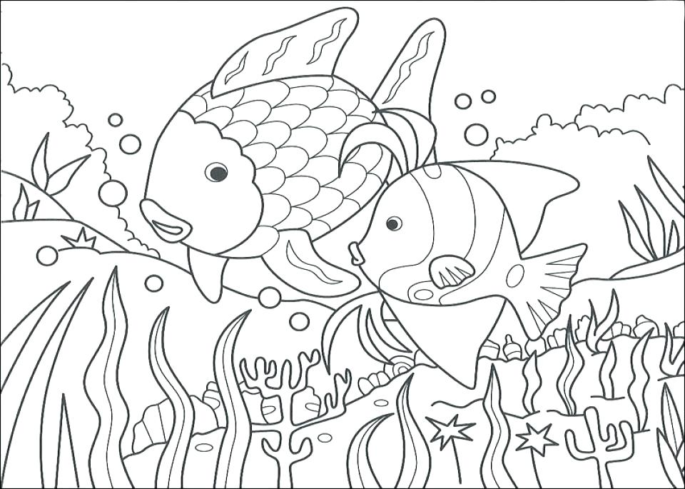 960x685 Fish Coloring Pages Fish Coloring Page The Rainbow Fish Coloring