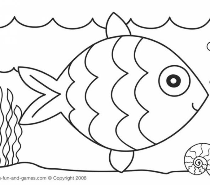 678x600 Fish Coloring Pages For Preschoolers Get This Rainbow Fish