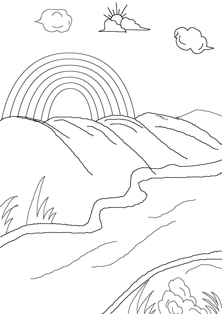 707x1000 Rainbow Coloring Pages Printable Rainbow Coloring Pages Rainbow