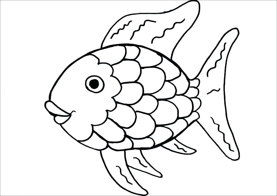 945x668 Coloring Page Of A Rainbow Fish Coloring Pages Rainbow Page