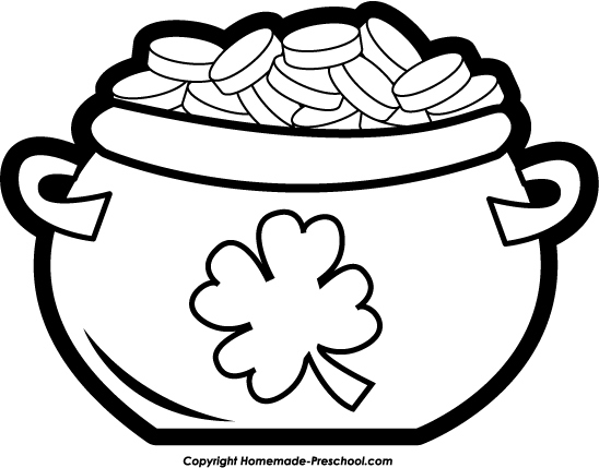 548x429 Pot Of Gold Coloring Page Elegant Rainbow Pot Gold Coloring Page