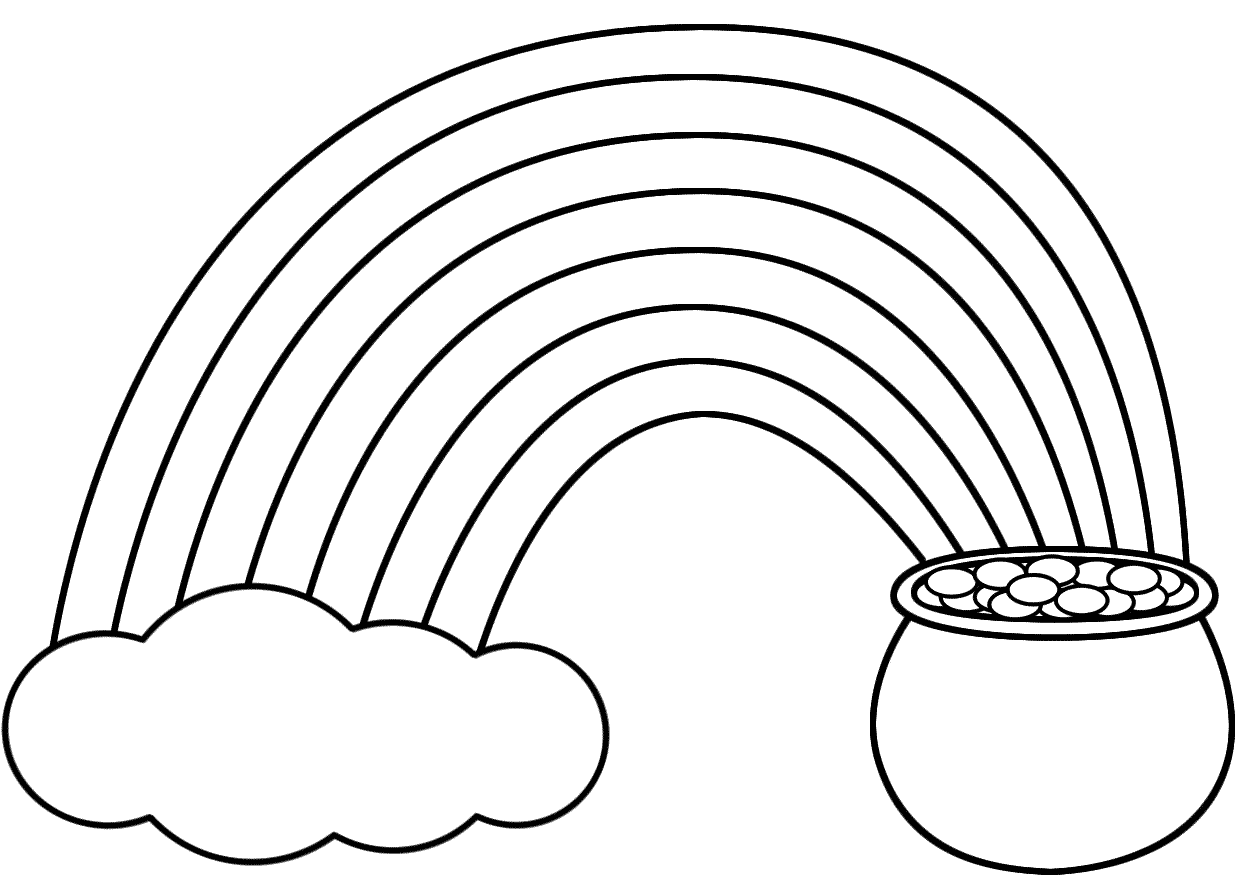 1240x877 Pot Of Gold Coloring Pages