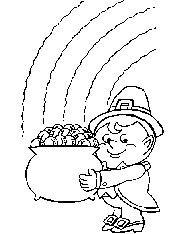 664x819 Pot Of Gold Rainbow Coloring Page Coloring Book