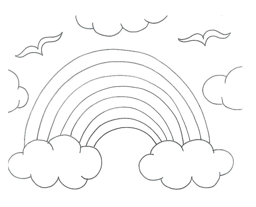 839x679 Rainbow And Pot Of Gold Coloring Pages Free Printable Rainbow Fish