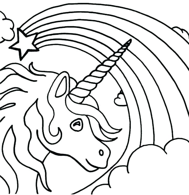 736x760 Rainbow Coloring Page Small Pot Of Gold Coloring Page Free