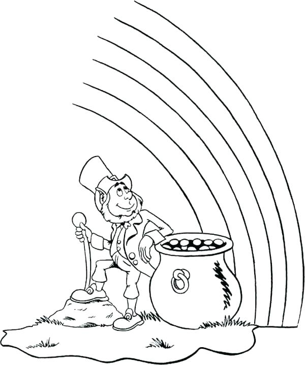 600x718 Gold Coloring Pages Tarantula Coloring Page Leprechaun With Pot