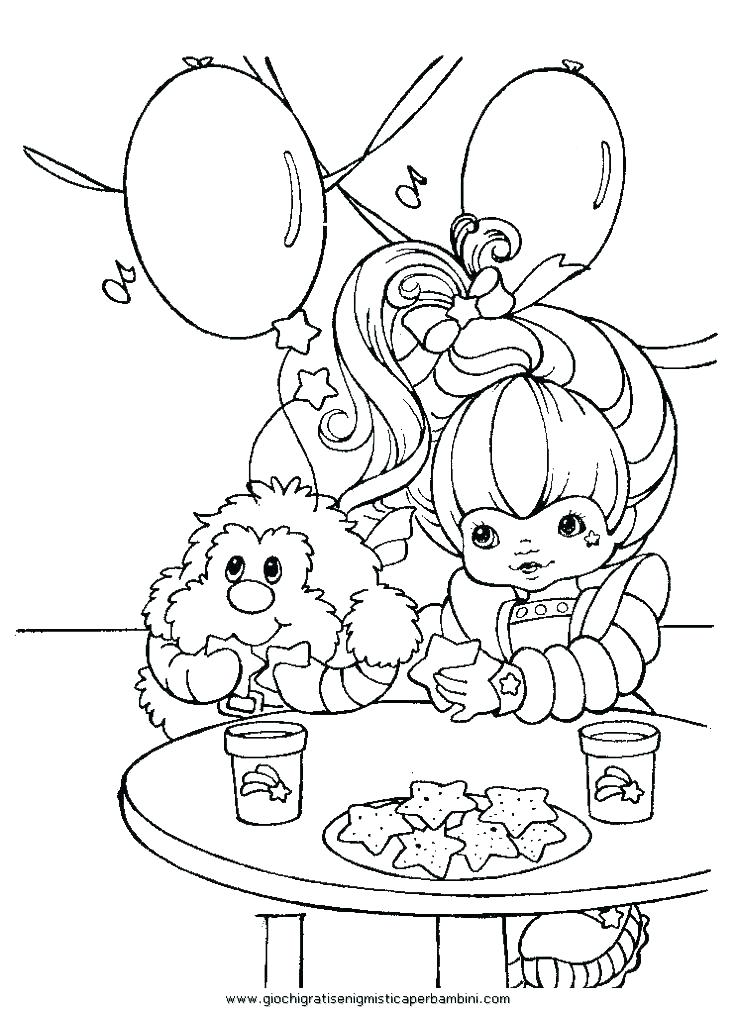 736x1009 Rainbow Brite Coloring Pages Free Printable Bright Top Rated