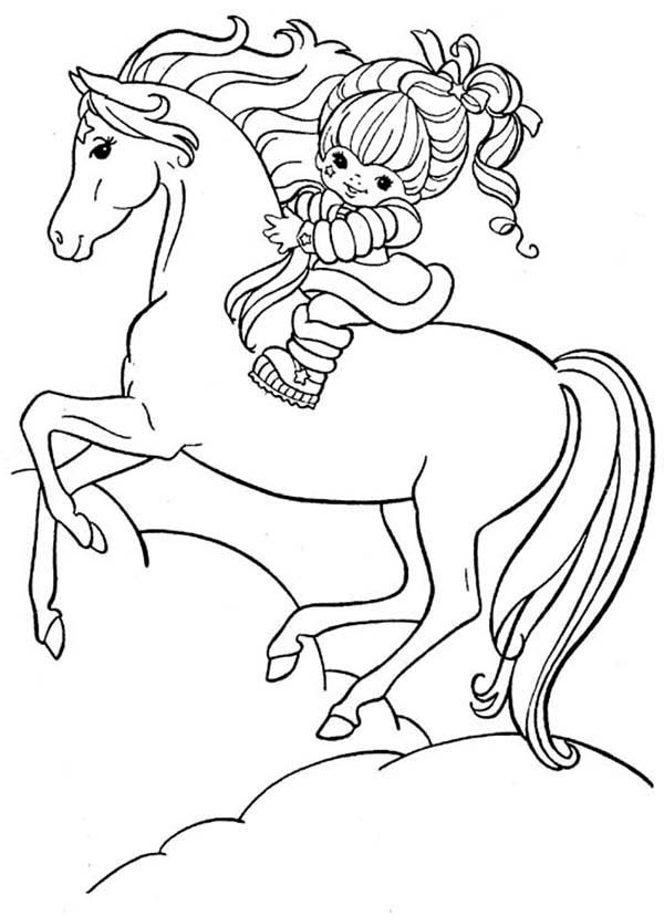 600x828 Rainbow Brite And Her Hosre Starlite Coloring Page Color Luna