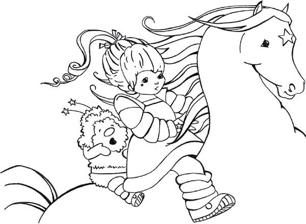 600x440 Rainbow Brite And Twink Ride Beautiful Starlite Coloring Page