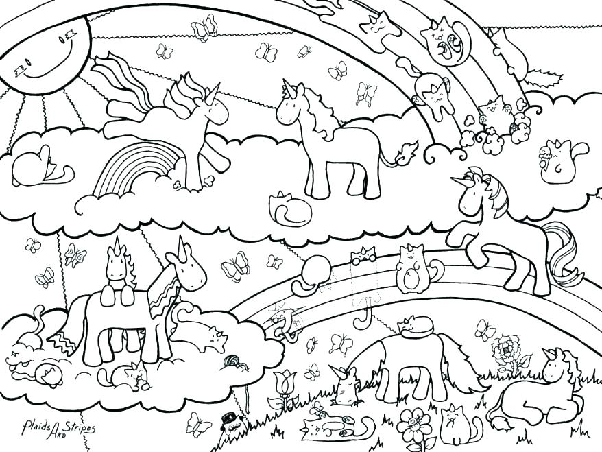 878x659 Rainbow Coloring Page Printable Rainbow Coloring Pages For Kids