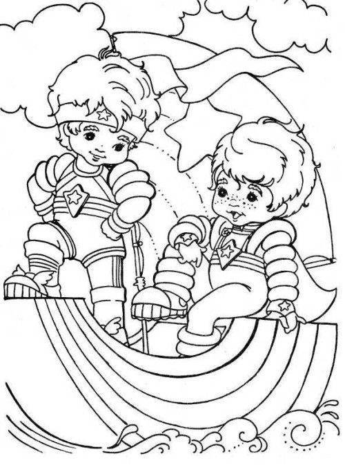 500x673 Best Rainbow Brite Coloring Pages Images On Rainbow