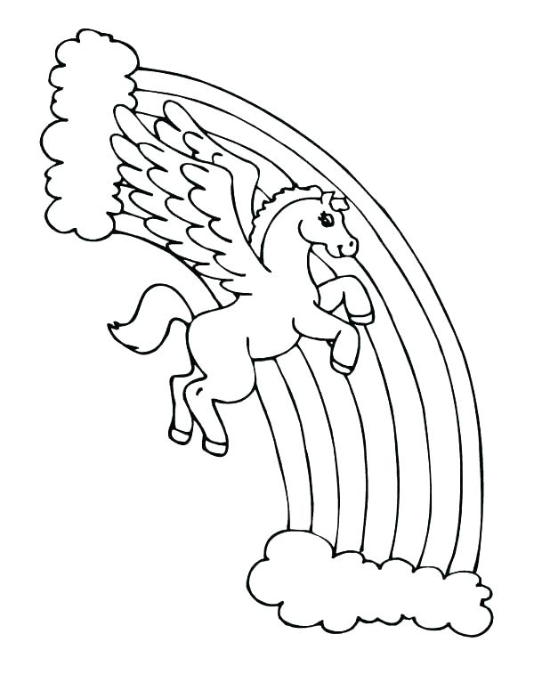 600x776 Rainbow Coloring Pages Free Printable Rainbow Coloring Pages Free