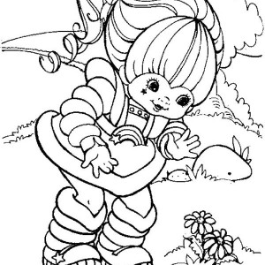 300x300 Red Butler Read A Book With Twink In Rainbow Brite Coloring Page