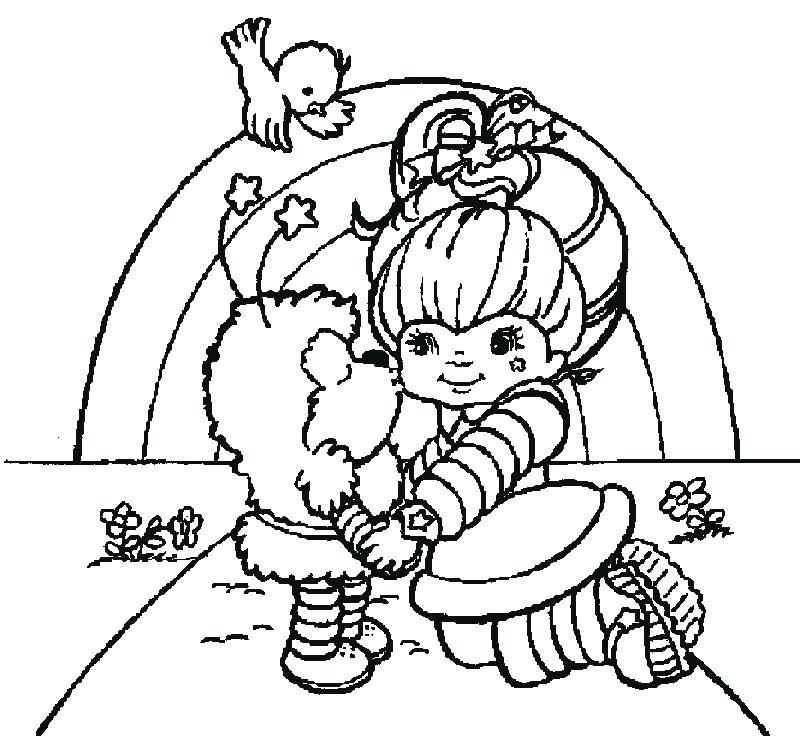 800x736 Rainbow Bright Coloring Pages Many Interesting Colors In Rainbow