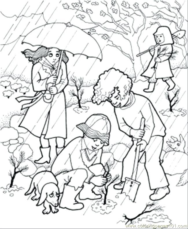 650x789 Rain Coloring Raincoat Coloring Page