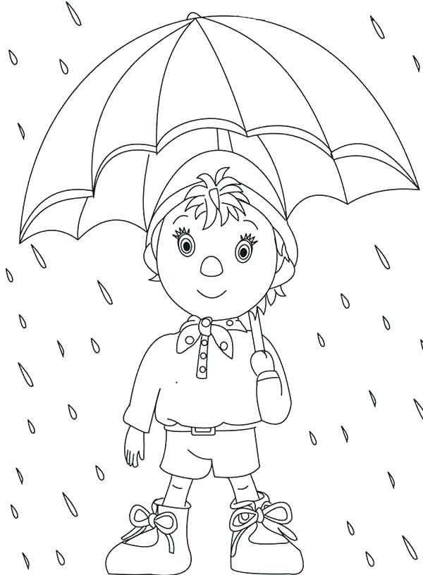 600x816 Rain Coloring Sheet Raincoat Coloring Page