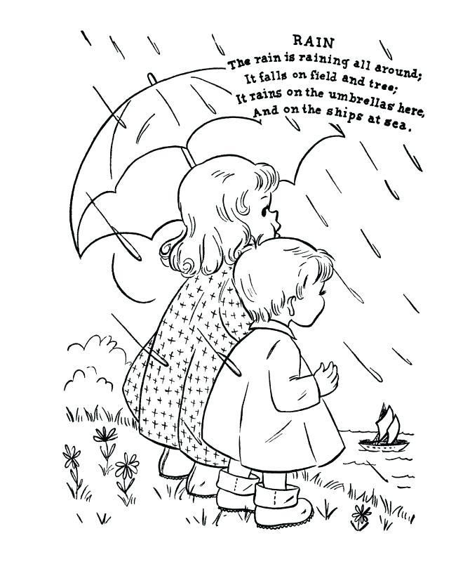 670x820 Rain Coloring Sheet Umbrella Coloring Pages Raindrop Coloring