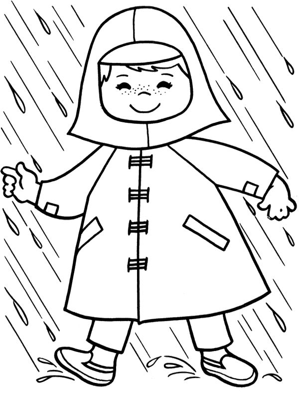 600x793 Raincoat Children Coloring Page Coloring Pages For My Class