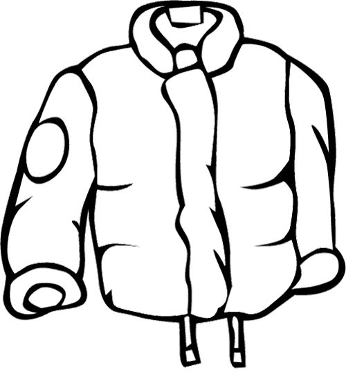 500x537 Raincoat For Men Coloring Page Winter Coloring Page
