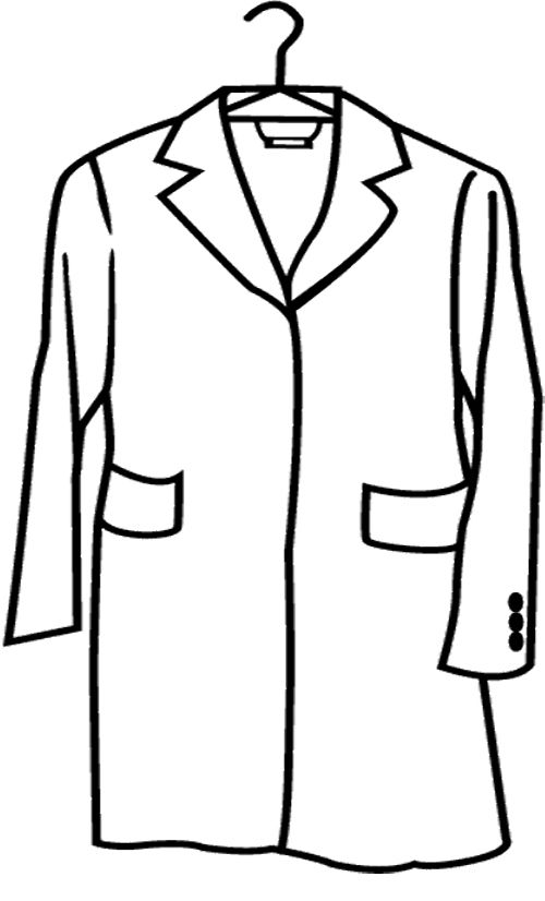 500x826 Raincoat Long Coloring Page Winter Coloring Page