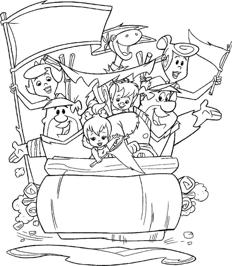 920x1054 Best Of The Flintstones The Rubles Coloring Pages Gallery Great