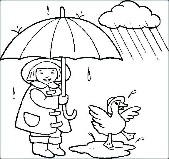 575x541 Rain Coloring Sheet